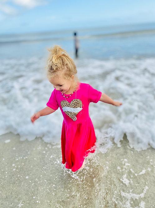 Wild child fleece lined dress