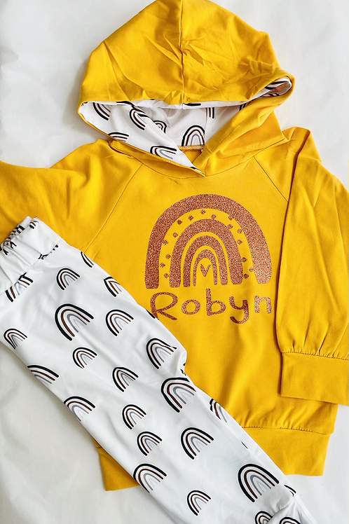 Rainbow hoodie and legging set