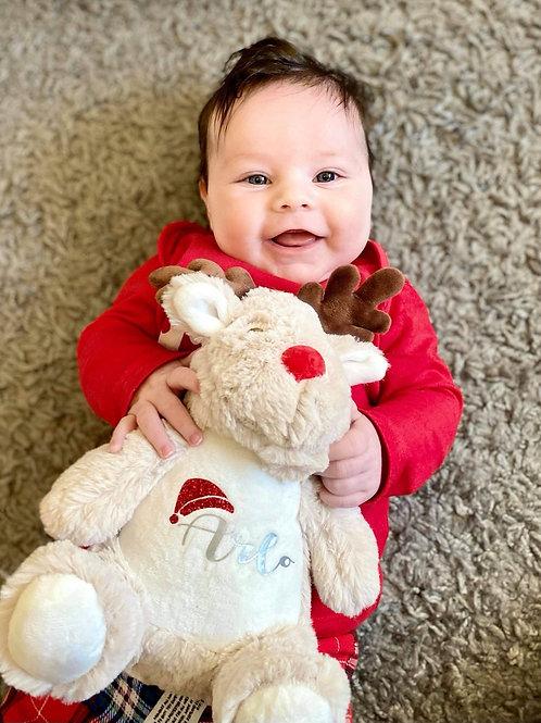 Personalised Small Christmas Reindeer Teddy