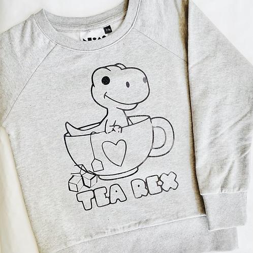 Tea rex in cup top