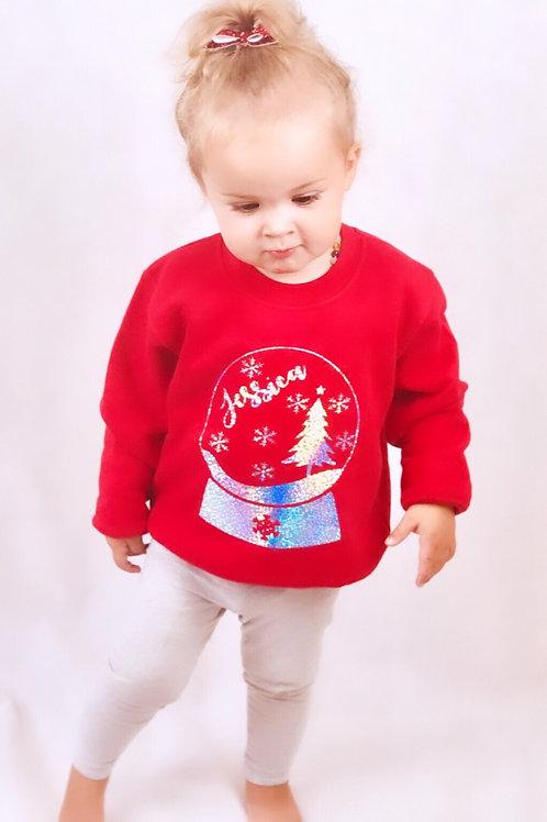 Personalised Snow Globe Sweater