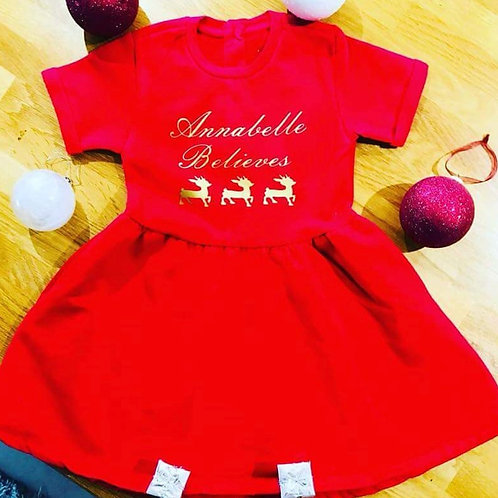 Personalised Fleece Lined Dress
