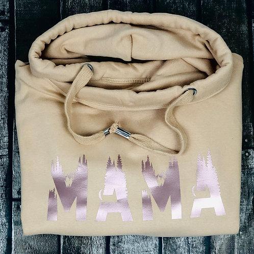 Wild Mama Snuggle cross neck hoodie