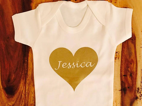 Personalised 'Name Heart' Top