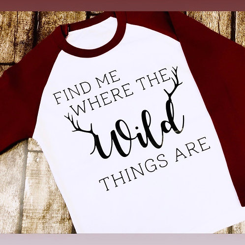 Find me where the Wild things are top
