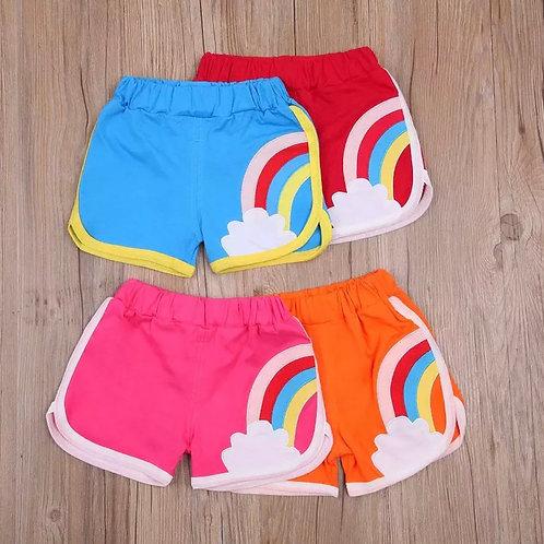 Retro rainbow shorts