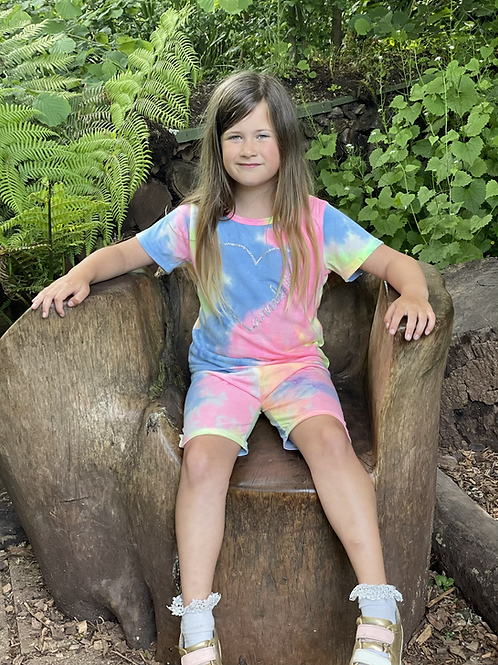 Bright Tie Dye Short and tee set