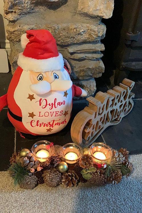 Personalised Christmas Santa Teddy