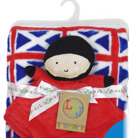 Embriodered London Guard Comforter & Blanket