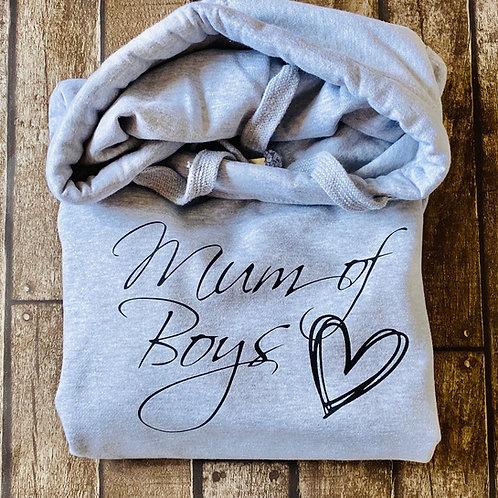 Mum of ...... Snuggle cross neck hoodie