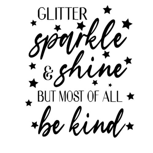 Glitter sparkle and shine top