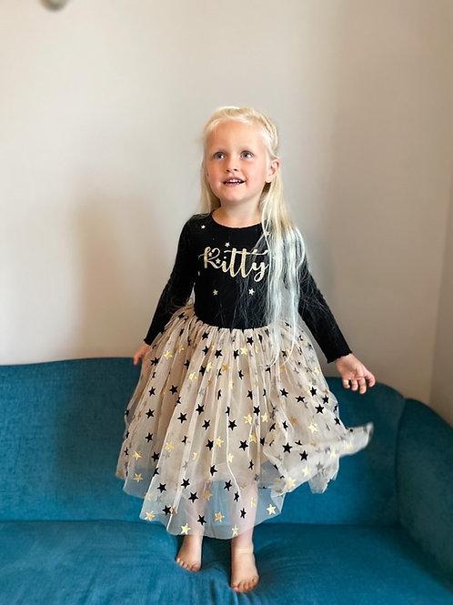 Long sleeve star tutu dress