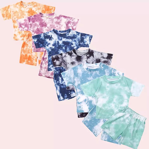Tie Dye Short and tee set