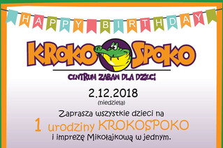 Pierwsze urodziny KROKOSPOKO i Mikołajki w jednym. Dowiedz się jak wygrać jedną z 5 darmowych wejści