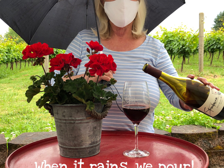 When it rains, we pour!🍷 Stop by Stavalaura Sat. and Sun., 12pm-5pm for wine tasting.🍇
