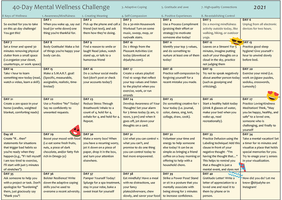 Daily Mental Wellness Challenge Updated.