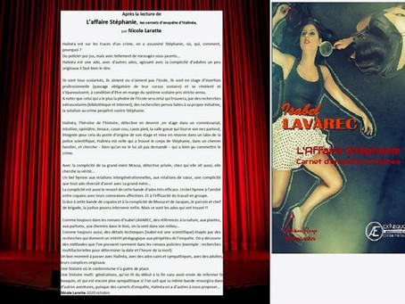 """Critique de """"l'affaire Stéphanie"""" par une lectrice Nicole Laratte"""