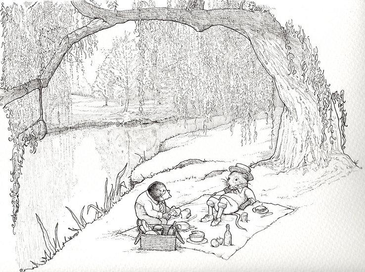 Ratty and Mole picnic
