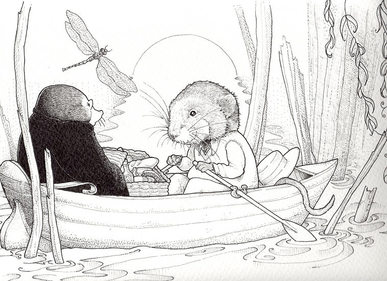 Ratty and Mole boating