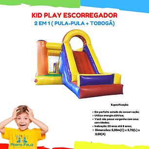 Aluguel kid play escorregador inflável