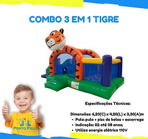 COMBO 3 EM 1 TIGRE, KID PLAY