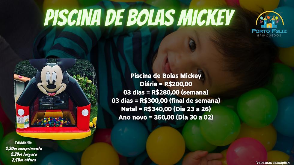 Piscina de Bolas Mickey