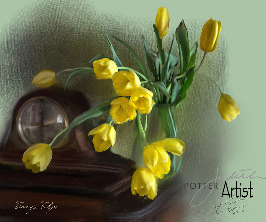 Time for Tulips, Painting, Canvas