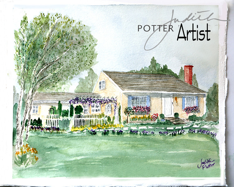 Liane's house, Cumberland, RI watercolor