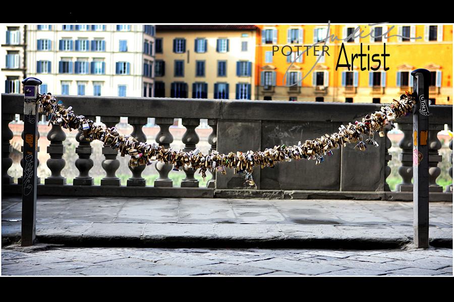 Locks of Love, Venice, Italy, Photograph