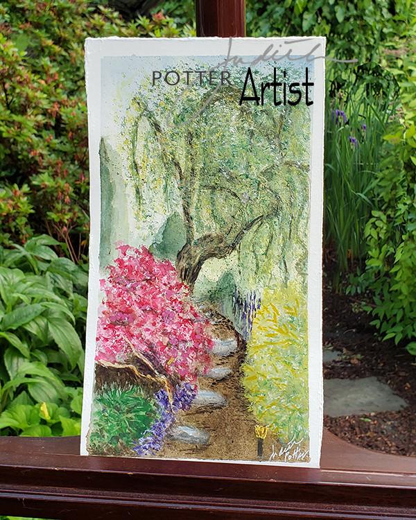 My Secret Garden, watercolor