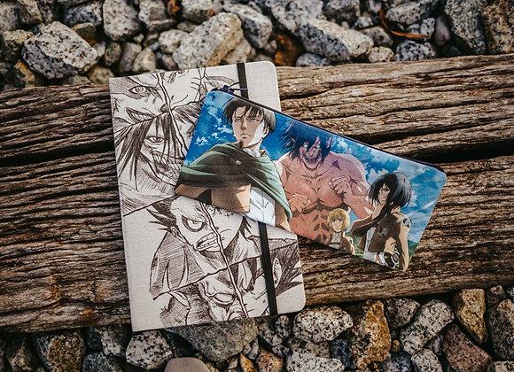 PACK Transformaciones  02 Libreta + Estuche Shingeki no kiojin
