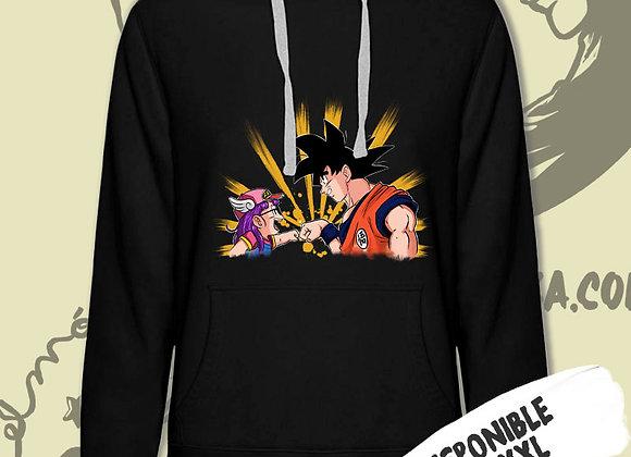 SUDADERA Goku y Arale. (Dragon Ball y Dr. Slump)
