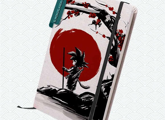 Libreta Goku + Sakura en flor (Dragon Ball)