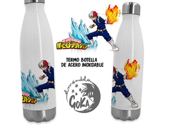 TERMO BOTELLA TODOROKI  (My Hero Academia)