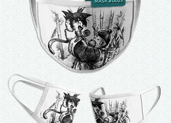 MASCARILLA: GOKU Y SON GOHAN ABUELO(DRAGON BALL)