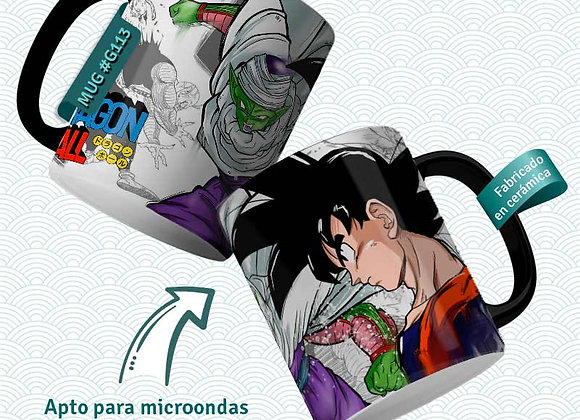 TAZA  Goku vs Piccolo- Satanàs  (Dragon Ball)