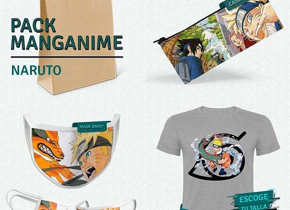 PACK Naruto 01_Camiseta+Estuche+Mask