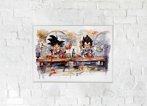 LÀMINA_Goku y Vegeta ÑAM!