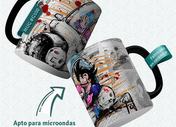 TAZA  Goku i Bulma Moto 2  (Dragon Ball)