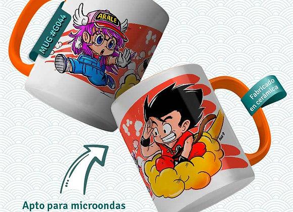 TAZA  Goku i Arale (Dr. Slump y Dragon Ball)