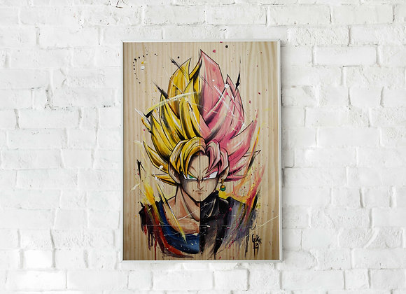 LÀMINA_Goku VS Goku Black