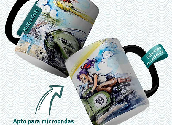 TAZA  Bulma Moto capsule 19 (Dragon Ball)