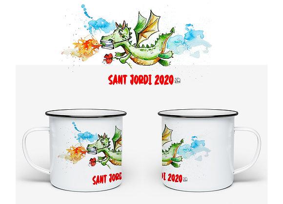 TASSA VINTAGE Sant Jordi 2020- drac mascareta