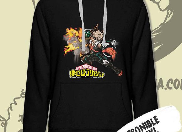 SUDADERA My Hero Academia BAKUGO logo