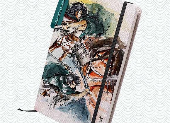 Libreta Ataque a los titanes (Shingeki no kiojin)