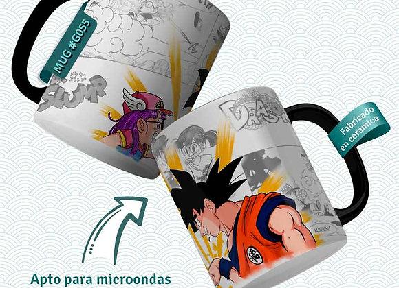 TAZA Goku y Arale (Dragon Ball y Dr Slump)