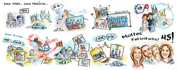 Ilustracion viñetas personlizada