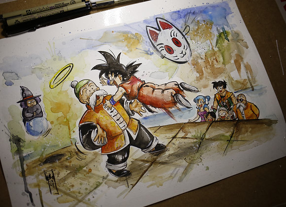 Goku  Reencuentro Gohan- ORIGINAL