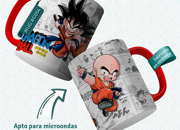 TAZA Goku y Krillin (Dragon Ball)