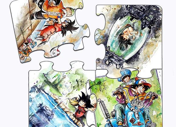 POSAVASOS PUZZLE Momentos 1 -Dragon Ball